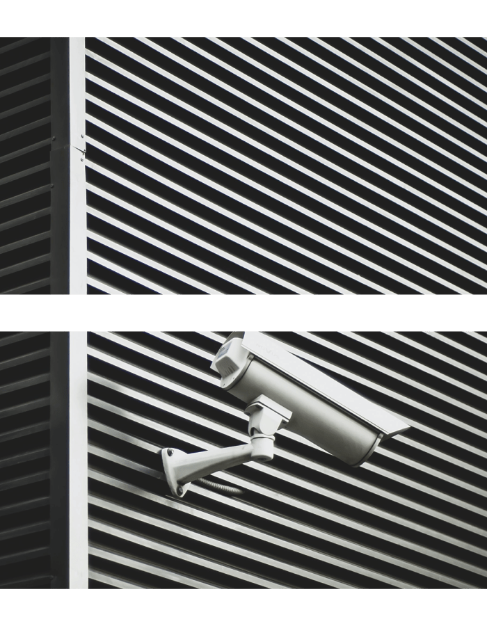 Security camera on a building